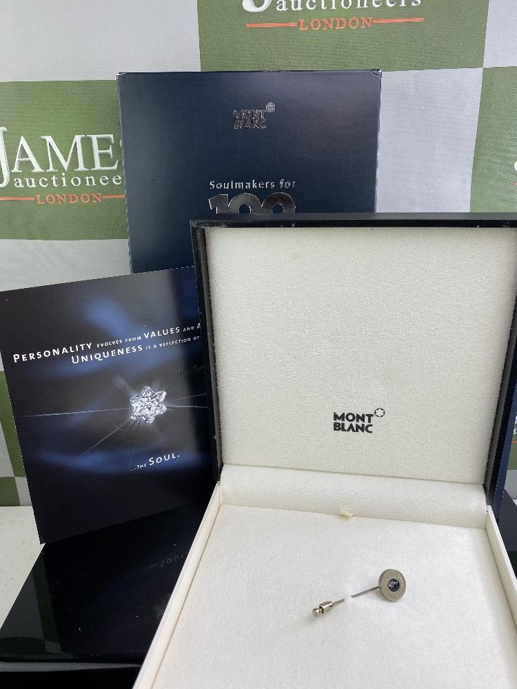 Lot 14 - Montblanc Centennary 100 Year Diamond Set Lapel Pin