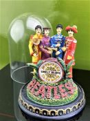 "The Beatles ""Lonely Hearts"" Figurine & Glass Dome- Franklin Mint"