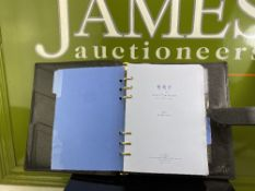 Smythson Duke a5 Leather Organiser/Gold Leaf 2020 Diary/Contact File Included+Montblanc Pen