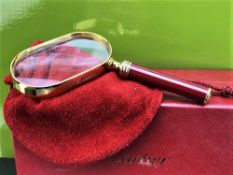 Cartier Vintage Gold Plated Trinity Magnifying Glass