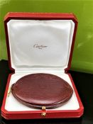 Cartier Coin Purse in Bordeaux Leather, Logo Embossed.