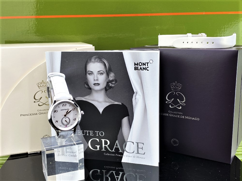 Lot 19 - Montblanc Special Edition Princess Grace Of Monaco Diamond Watch
