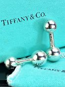 Tiffany Classic Silver Ball Hallmarked Silver Cufflinks