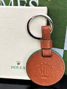 Rolex Official Merchandise Crown Brown Leather Key Ring