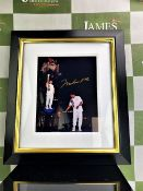 Muhammad Ali Signed Olympic Torch Lighting Framed Photograph