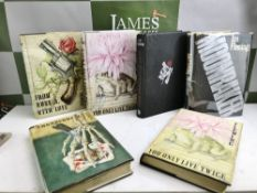 Ian Fleming (Cape) Six Vintage Hardback Books- James Bond