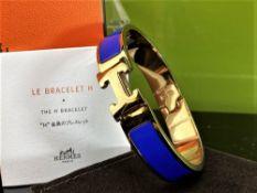 """Hermes """"H Click Clack"""" Bracelet"""