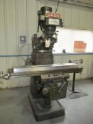 """Webb/Champ Mdl.3VK 3-Axis Milling Machine w/ Knee Type 10"""" x 50"""" Table"""