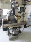 """Sharp 3-Axis Milling Machine w/ Knee Type 10"""" x 50"""" Table"""