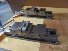 """Lot of 2 - Glacern Machine Tools GDV-416FE 4"""" Double Vises"""