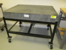 """36"""" x 48"""" x 6"""" Mobile Granite Surface Plate"""