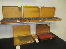Lot - 6 Cases of Pin Gauge Sets .011-.750 (Incomplete)