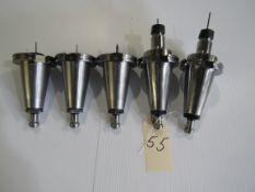 Lot - 5 Cat 50 Tool Holders (w/Tooling)