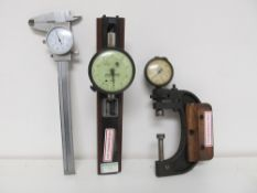 Lot - Bore Micrometers, Federal Groove Gage, etc.