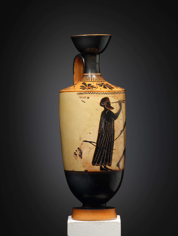 Lot 22 - An Attic Black-figure White-ground Lekythos, Attributed to the Athena Painter