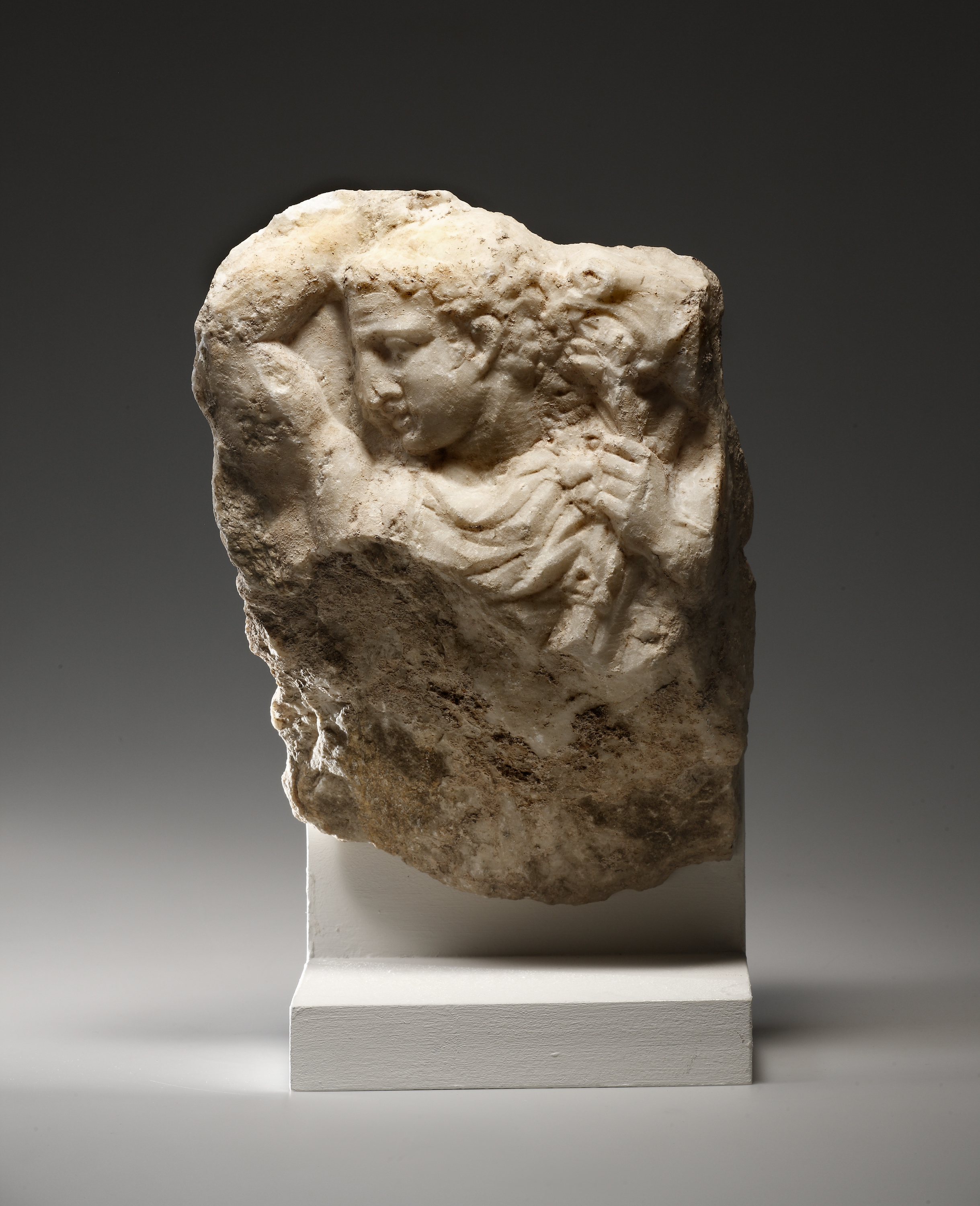 Lot 48 - A Fragment of a Relief with a Youth (probably Herakles)