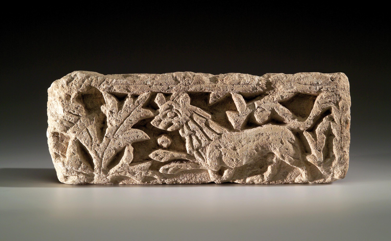 Lot 44 - A Coptic Architectural Frieze with Lion