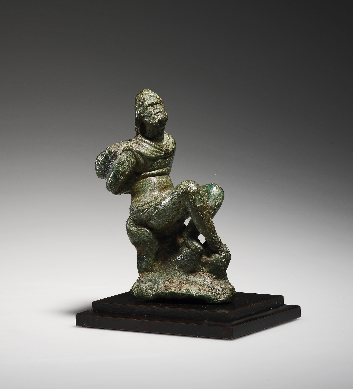 Lot 35 - A Statuette of a Captive Barbarian