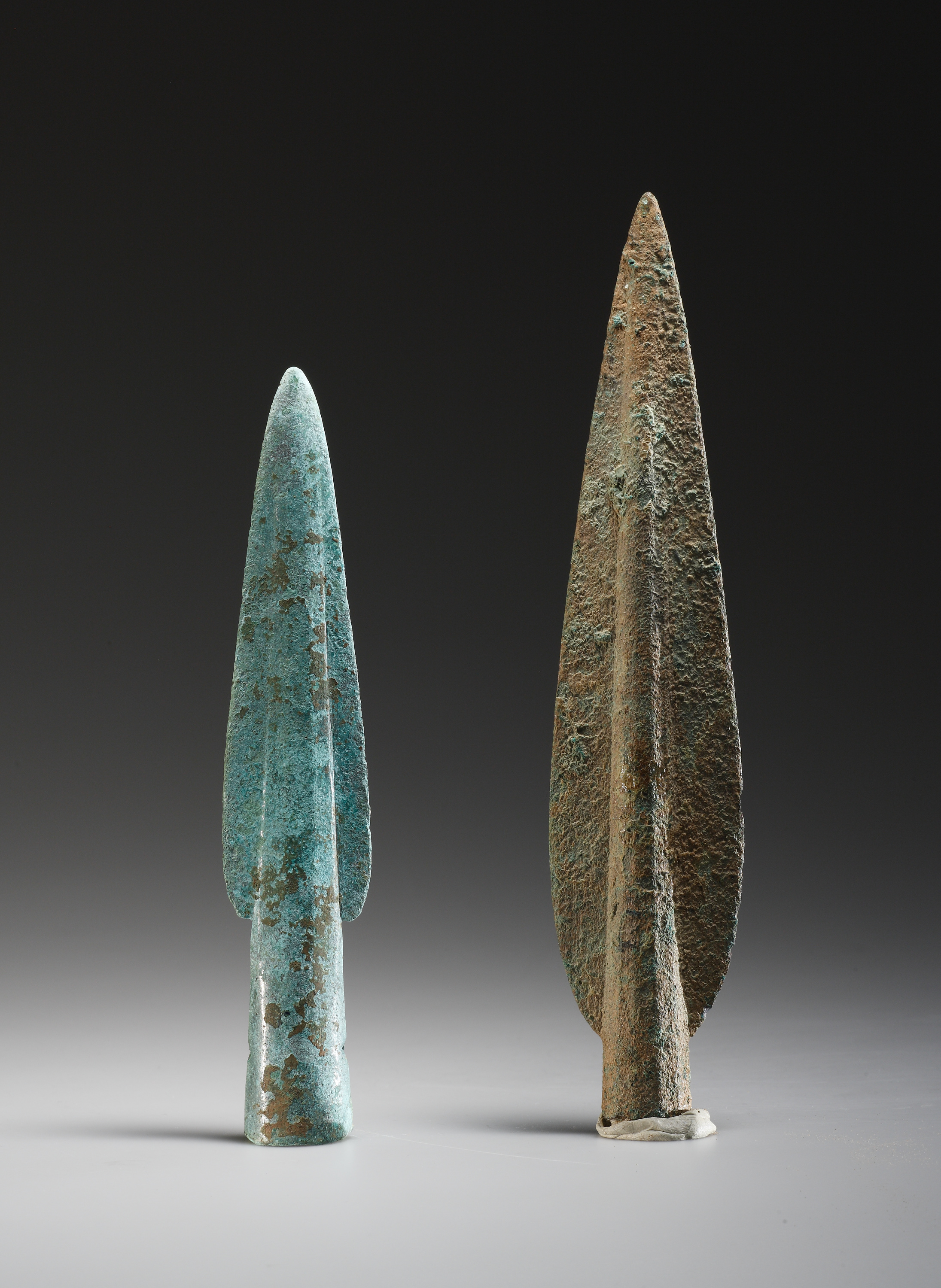 Lot 10 - Two Early European Lance Tips in Bronze