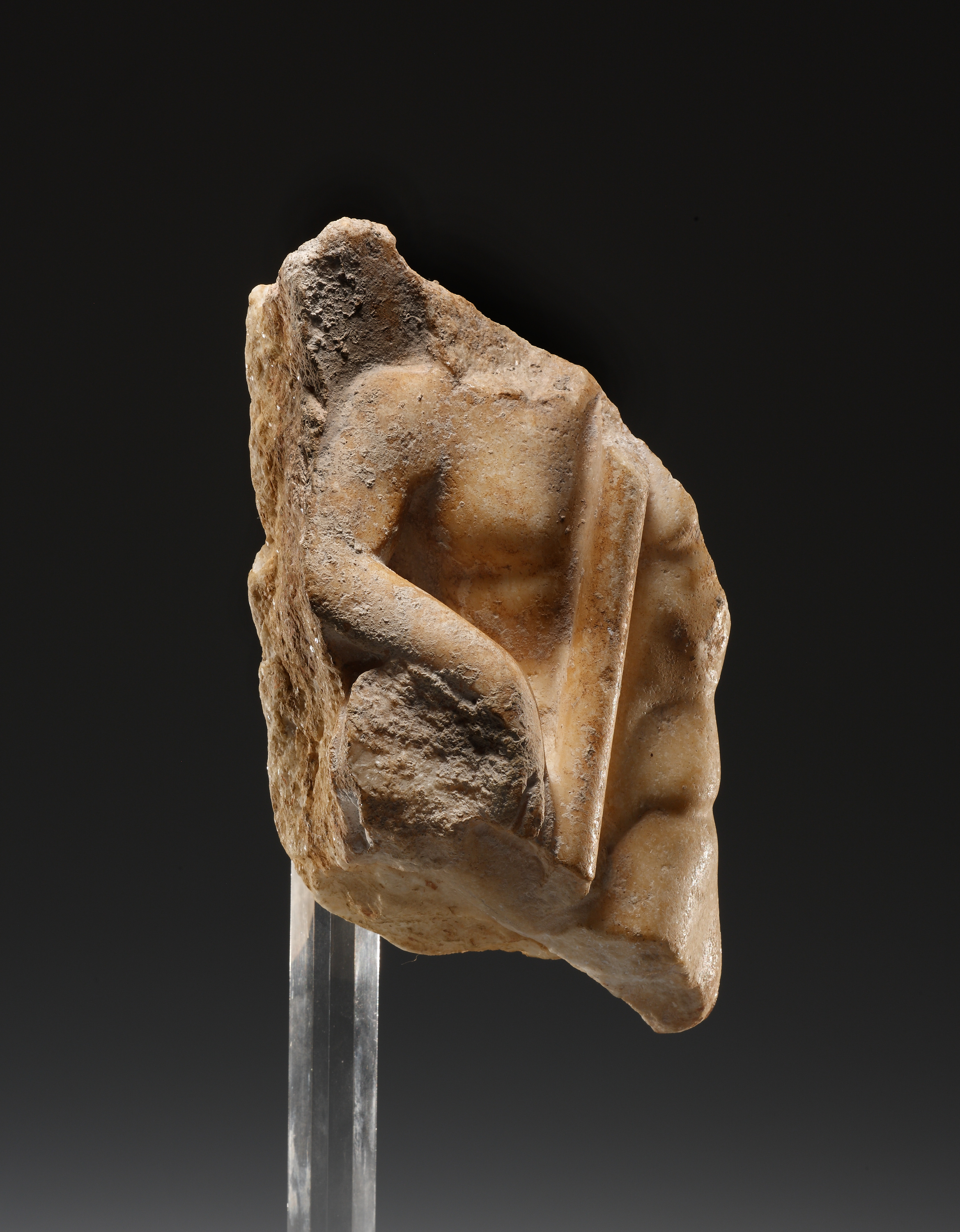 Lot 52 - A Relief Fragment with Male Torso