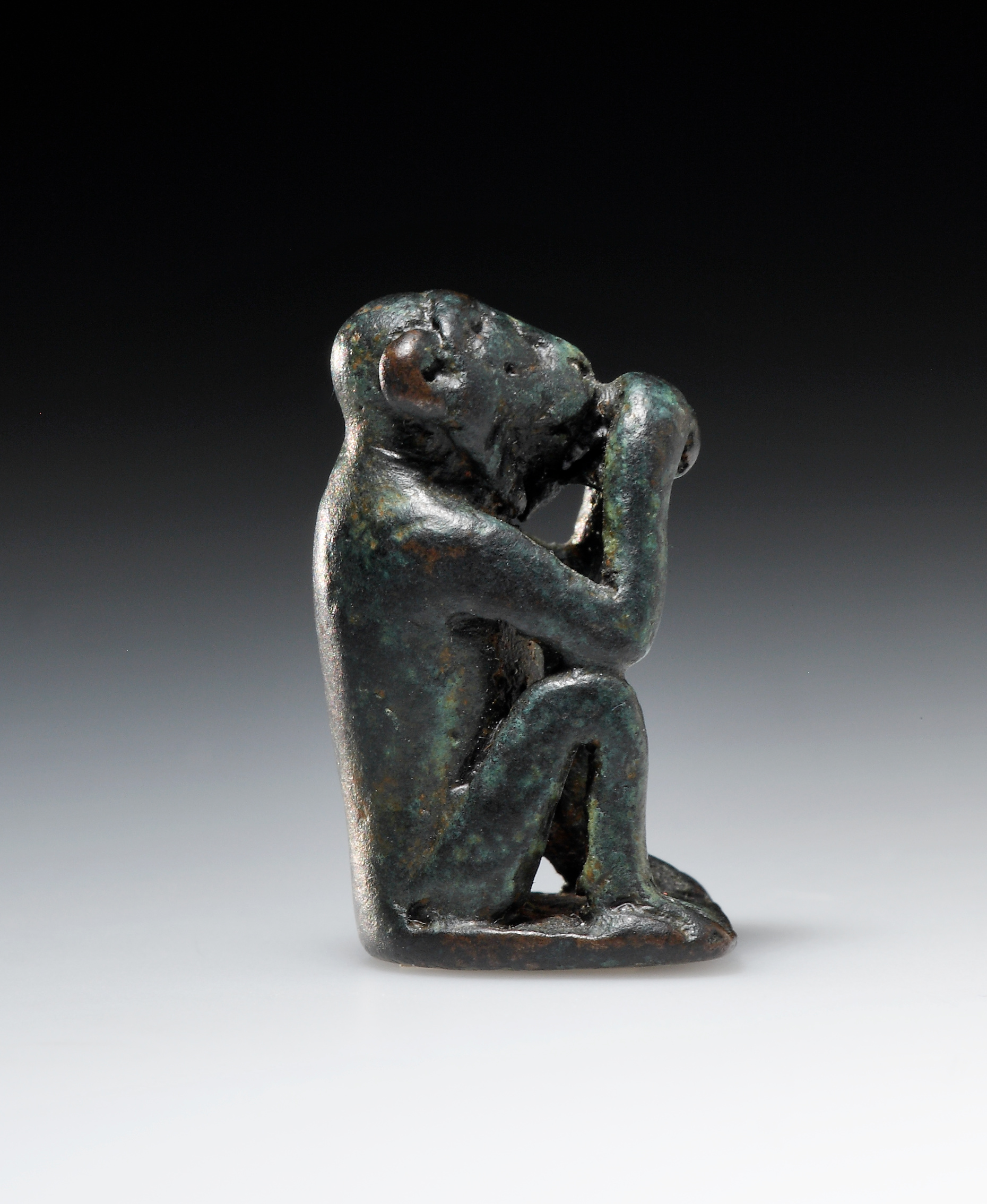 Lot 13 - A Bronze Weight in the Shape of an Ape