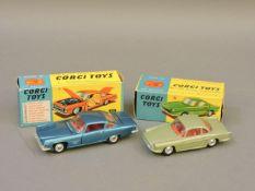 Corgi 241 Ghia L6.4, and Corgi 222 Renault 'Floride'