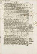 Inkunabeln - Melanchton, Phillip - - Maffei de Volterra, Francesco Scipione. Commentariorum rerum urbanorum liber primus bis octo et triginta libri. 18. Mit 8 Textholzschnitten. 18 Bll., DXLVII  (ohne CCCXXXVI-CCCXLI, durchgehend wechselnd falsch paginiert). 12 Bll. Folio. (Rom, Johannes Besicken, 1506) Holzdeckelband d. Zt. (etwas bestoßen, Ecken sauber restauriert) mit Schweinsldr. Rücken, Deckel mit breitem mit Streicheisenlinien und Brandprägestempel im Kreis (Druckermarke (links ein Tie...