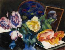 Expressionismus - - Stuckenberg, Fritz. (1881 München - 1944 Füssen). o.T. (Blumenstillleben). Ca.