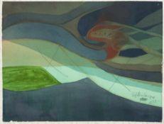 Haas, Willibrord. (1936 Schramberg / Schwarzwald - lebt in Berlin). o.T. 1980. Aquarell auf festem
