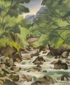 Breitwieser, Georg. (1890 Langstadt (Dieburg) - 1938 Darmstadt). o.T. (Bachansicht). 1934. Öl auf