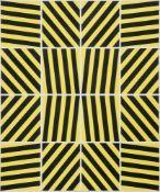 Goossens, Laurens. (1898 Niederlande - 1971 Krefeld). Warntafel. 1970. Acryl auf Leinwand. 120,5 x