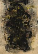 Adochi, Heinz. (1954 Rosenau (Rumänien) - lebt in Köln und Monte a Pescia). o.T. 1991. Mischtechnik