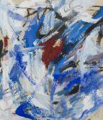 Abstrakter Expressionismus - - Abbott, Mary. (1921 - 2019). o.T. 1956. Mischtechnik auf bräunlichem