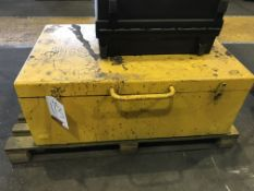 Metal Tool/Site Box in Yellow
