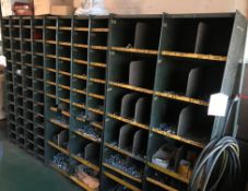 3 x Metal Component Shelving Units w/ Contents of Fixings - As Pictured