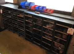 2 x Metal Component Shelving Units w/ Contents of Fixings - As Pictured