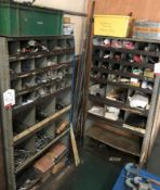 2 x Metal Storage Cabinets w/ Contents - As Pictured