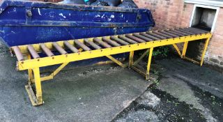 Roller Feed Manual Conveyor - Located Outside