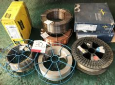8 x Various Reels of Full / Part Used Welding Wire - As Pictured