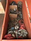 Quantity of Various Lifting Chains, Straps & Lifting Eyes - As Pictured