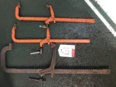 3 x Various Carver Heavy Duty Rack Clamps