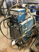 Miller Blue Pak 45 Mig Welder w/ Miller 20 Series 24V Wire Feed Unit, Clamp & Welding Guns