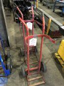 2 x Gas Bottle Trolleys in Red