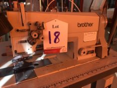 Brother LT2-B872-5 double needle drop feed lockstitch sewing machine