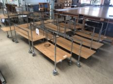 10 x Mobile Material Trolleys W 500mm x L 1200mm