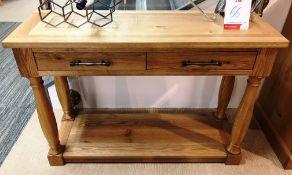 Ex Display Bentley Designs Westbury Console Table - Rustic Oak - RRP£539