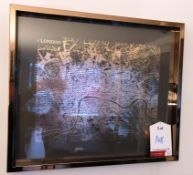 Ex Display Wall Mounted Framed Print - Map of London