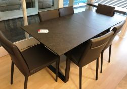 Ex Display Baker Bedford Panama Extension Dining Table w/ 6 x Ralph Dining Chairs - RRP£2,393