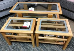 Ex Display AnBerCraft Monaco Television Table & 2 x Magazine Tables - RRP£1,533