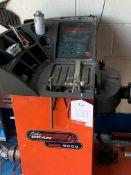 John Bean Balco 9000 wheel balancer with board of accessories